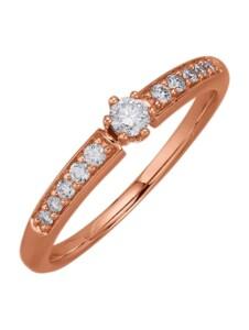 Damenring Diemer Diamant Roségoldfarben