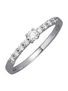 Damenring Diemer Diamant Weißgoldfarben