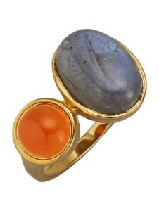 Damenring Diemer Farbstein Orange