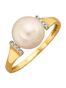 Damenring Diemer Perle Weiß