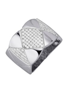 Damenring Diemer Trend Silberfarben
