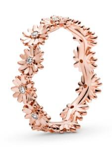 Damenring-funkelnde Gänseblümchen- Pandora Rosé