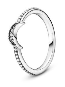 Damenring -Funkelnder Mond- Pandora Silberfarben