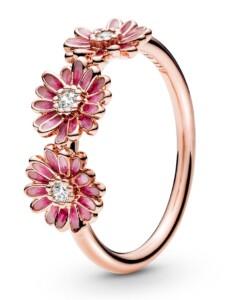 Damenring-Gänseblümchen- Pandora Rosé