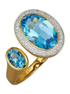 Damenring Gemondo Blau