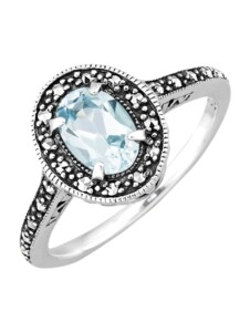 Damenring in Silber 925 Esse Blau