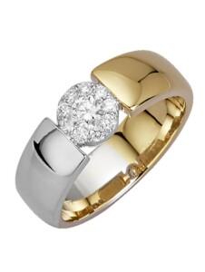 Damenring mit Brillanten Diemer Diamant Gelbgoldfarben::Weißgoldfarben