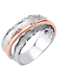 Damenring mit Diamant Diemer Diamant Silberfarben