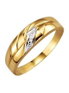 Damenring mit Diamant KLiNGEL Gelbgoldfarben