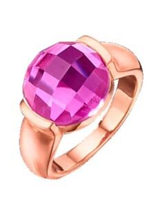 Damenring mit Quarz Jamelli Pink
