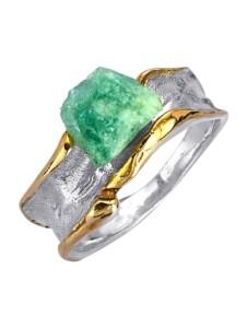 Damenring mit Roh-Smaragd Diemer Atelier Grün