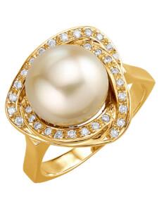 Damenring mit Südsee-Zuchtperle Diemer Perle Gelb