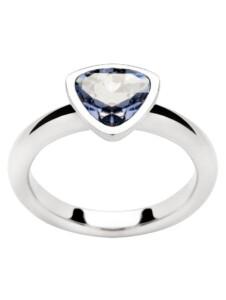 Damenring mit Swarovski Kristall Yvette Ries Blau