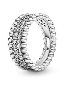 Damenring Pandora Silberfarben