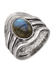 Damenring Roman Glass Silberfarben