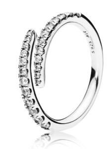 Damenring Sternschnuppe Pandora Weiß