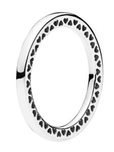 Damenring -unendliche Herzen- Pandora Weiß