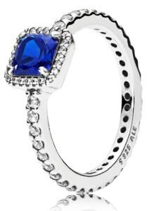 Damenring Zeitlose Eleganz blau Pandora Blau