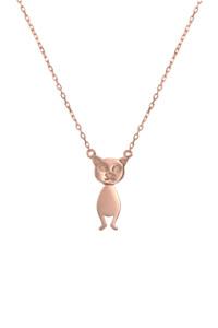 DANCING CAT Halskette rosé vergoldet – LIMITED EDITION