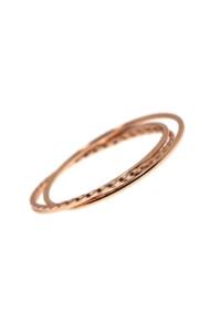 DELICATE TRIPLETS Ring Set rosé vergoldet