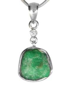 Diamant Anhänger 925 Silber 1001 Diamonds grün