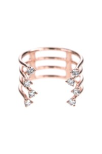 Diamant Layer Ring Roségold