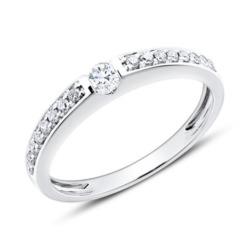 Diamantbesetzter Verlobungsring aus 14K Weißgold