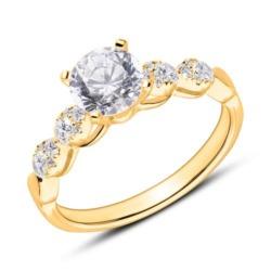 Diamantbesetzter Verlobungsring aus 18K Gold