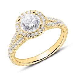 Diamantring aus 18-karätigem Gold