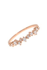 DIAMOND ARRAY Ring Roségold