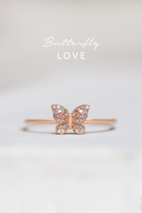 DIAMOND BUTTERFLY Ring Roségold