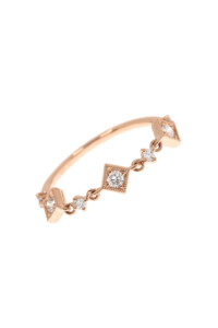 DIAMOND CHAIN Ring Roségold