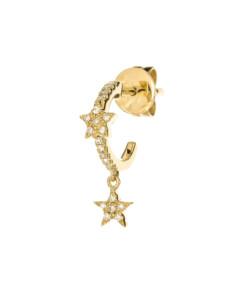 DIAMOND Creole Single 14K Gold