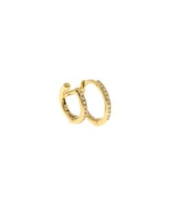 DIAMOND Creole|Single 14K Gold