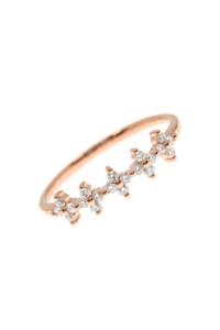 DIAMOND FLOWERS Ring Roségold