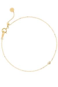 DIAMOND HEART Armband 10K Gelbgold