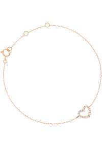 DIAMOND HEART Armband 14K Roségold