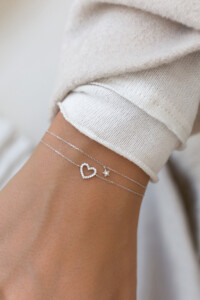 DIAMOND HEART Armband 14K Weißgold