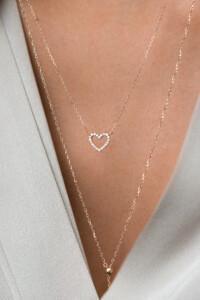 DIAMOND HEART Halskette 14K Roségold