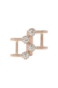 DIAMOND Layer Ring 14k Roségold