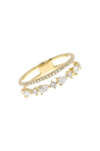DIAMOND Ring 14K Gelbgold