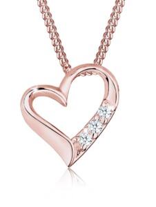 Diamore Halskette Herz Ewigkeit Diamant (0.06 ct.) 925 Silber Diamore Rosegold