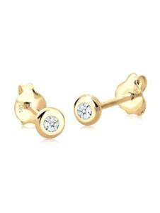 Diamore Ohrringe Basic Elegant Klassisch Diamant 585 Gelbgold Diamore Weiß