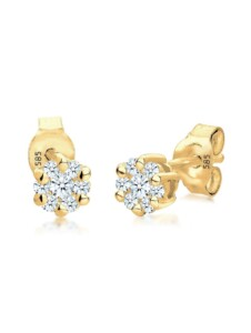 Diamore Ohrringe Blume Diamant (0.30 ct.) 585 Gelbgold Diamore Gold