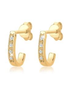 Diamore Ohrringe Creolen Elegant Diamant (0.08 ct.) 585 Gelbgold Diamore Gold