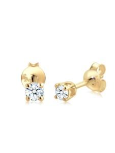 Diamore Ohrringe Klassisch Solitär Diamant (0.20 ct.) 585 Gelbgold Diamore Gold