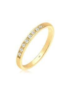 Diamore Ring Bandring Verlobung Diamant 0.08 ct. 585 Gelbgold Diamore Weiß