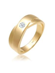 Diamore Ring Klassisch Wickelring Diamant 0.10 ct. 585 Gelbgold Diamore Weiß