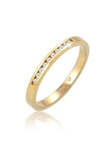 Diamore Ring Verlobung Bandring Diamant 0.10 ct. 585 Gelbgold Diamore Gold