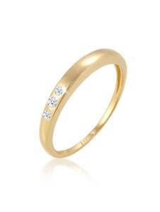 Diamore Ring Verlobung Trio Diamant (0.07 ct.) 585 Gelbgold Diamore Gold